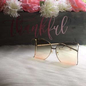 Accessories - 2 for $30 Ombré Oversized Sunglasses with pearls